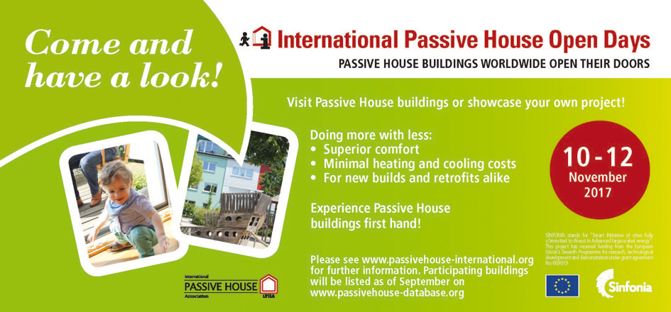 Come and have a look - International Passivhaus Open Days